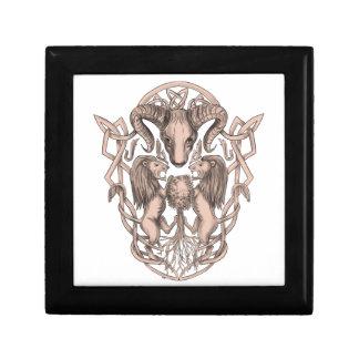 Joyero Celtic Knotwo del escudo de armas del árbol del