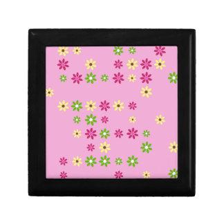 Joyero Confeti rosado de la flor
