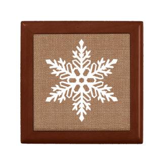 Joyero Copo de nieve en navidad del estilo rural de la