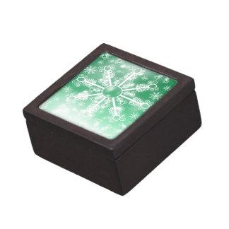 Joyero Copo de nieve verde