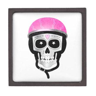 Joyero Cráneo del azúcar del motorista o del ciclista