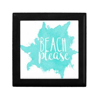 Joyero De la playa blanco por favor