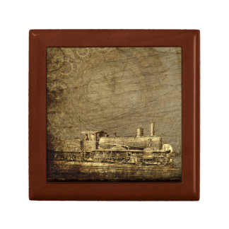 Joyero de Steampunk con la locomotora de vapor