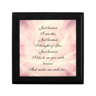 Joyero Diseño elegante del poema del país rosado