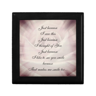 Joyero Diseño elegante del poema del país rosado/gris