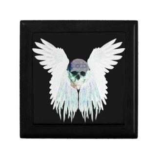 Joyero Diseño gótico con alas del cráneo perfecto para