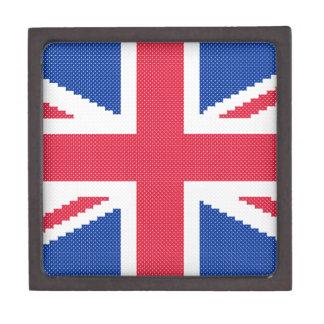 Joyero Diseño original Union Jack del punto de cruz