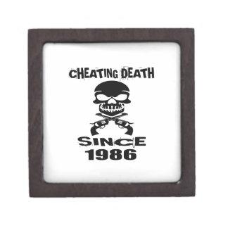 Joyero Diseños de engaño del cumpleaños de la muerte