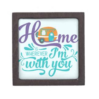 Joyero El hogar es dondequiera que esté con usted -