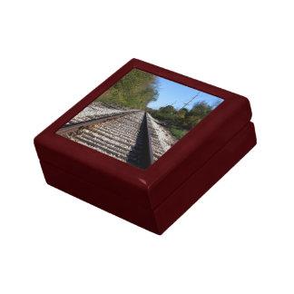 Joyero El tren de ferrocarril sigue la foto