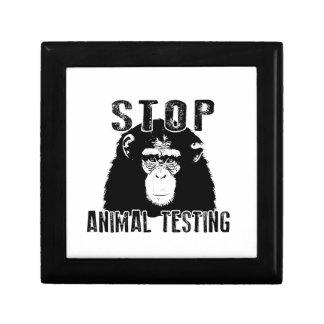 Joyero Ensayos con animales de la parada - chimpancé