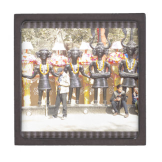 Joyero Estatua cultural de la demostración de la India de
