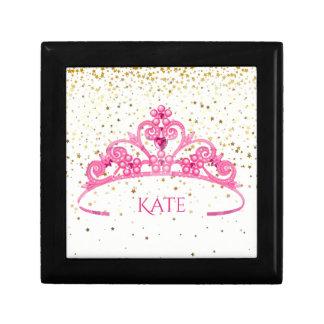 Joyero Estrellas de oro de la joyería de la tiara negra