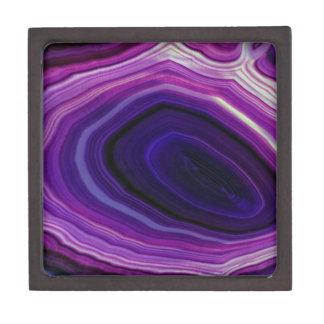 Joyero Falln remolinó Geode púrpura