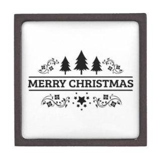 Joyero Felices Navidad blancas negras