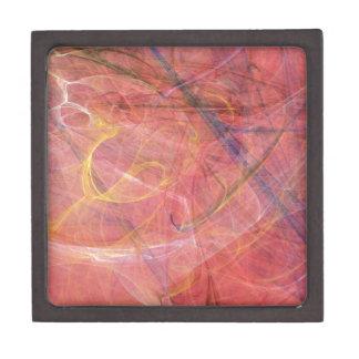 Joyero Fractal rojo abstracto