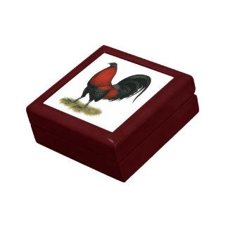 Joyero Gallo americano del rojo del negro del BB del