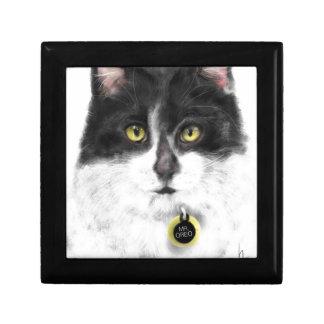 Joyero Gato blanco y negro