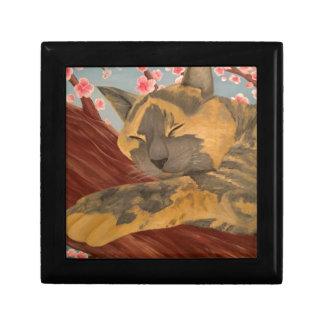 Joyero Gato el dormir de la flor de cerezo
