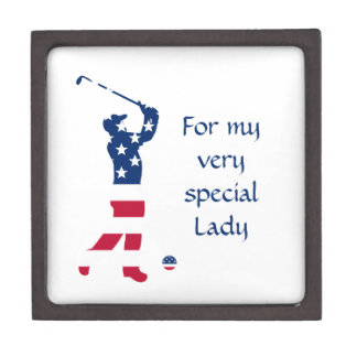 Joyero Golfista de la bandera americana del golf de los