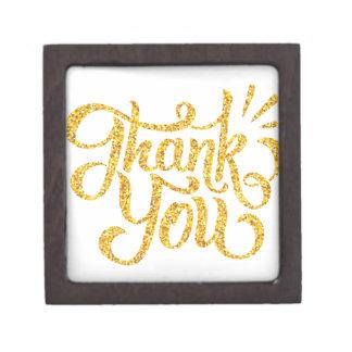 Joyero Gracias los brillos chispeantes de oro simples
