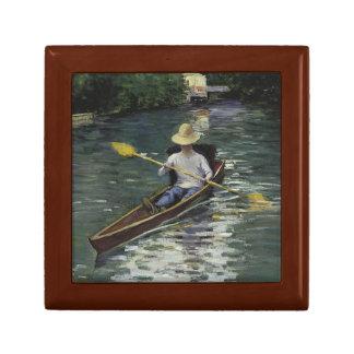 Joyero Gustave Caillebotte - canoa en el Yerres