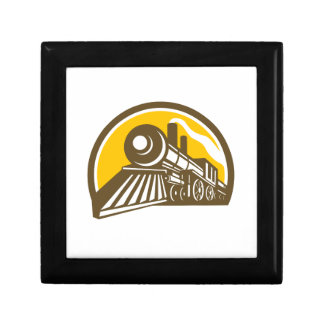 Joyero Icono del tren de la locomotora de vapor