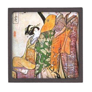 Joyero Ilustraciones japonesas del geisha del vintage