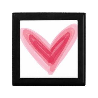 Joyero Impresión rosada bonita del corazón, amor hermoso