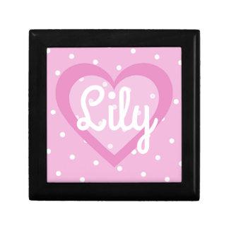 Joyero Joyería del corazón/caja de regalo rosadas bonitas