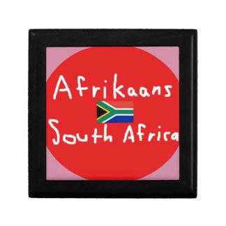 Joyero Lengua y bandera de Suráfrica del africaans