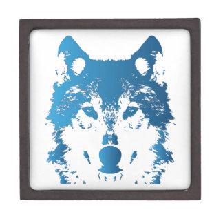 Joyero Lobo de los azules claros del ilustracion