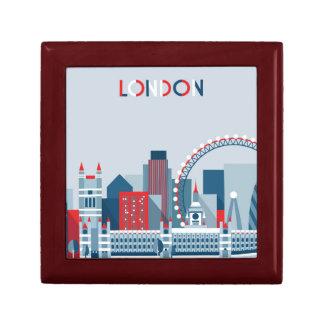 Joyero Londres, Inglaterra horizonte rojo, blanco y azul