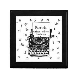 Joyero Máquina de escribir retra independiente del