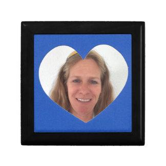 Joyero Marco azul de la foto del corazón