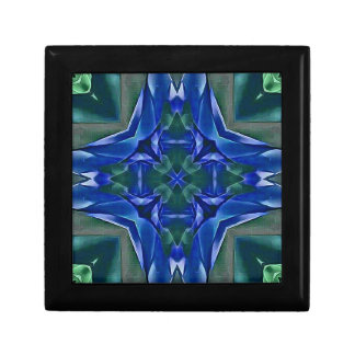 Joyero Modelo bonito de la forma de la cruz del azul real