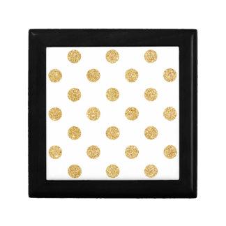 Joyero Modelo de lunares elegante del brillo del oro