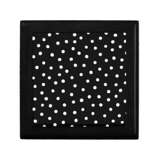 Joyero Modelo de puntos blanco y negro del confeti