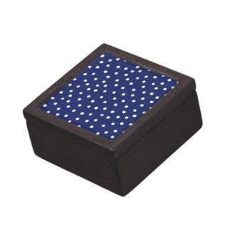 Joyero Modelo de puntos del confeti de los azules marinos