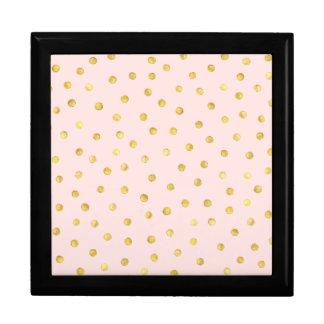 Joyero Modelo de puntos elegante del confeti de la hoja