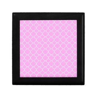 Joyero Modelo rosado y blanco de Quatrefoil
