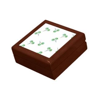 Joyero Modelo verde de la cereza
