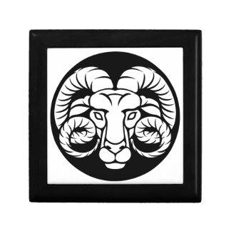 Joyero Muestra del zodiaco del aries del espolón