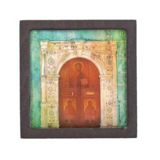 Joyero Ortodoxo griego de la puerta del icono del