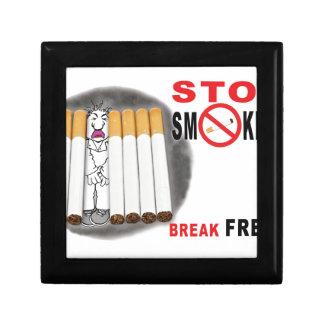 Joyero Pare el fumar de recordatorios - no más empalma