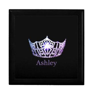 Joyero personalizado corona de la lila de Srta.