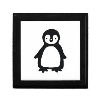 Joyero Pinguin blanco y negro simple