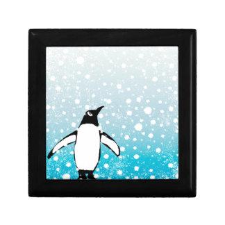 Joyero Pingüino en la nieve
