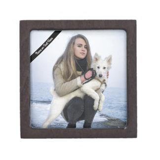 Joyero Plantilla de encargo de la foto del perro y del