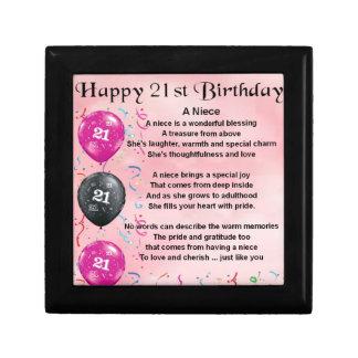 Joyero Poema de la sobrina - 21ro cumpleaños